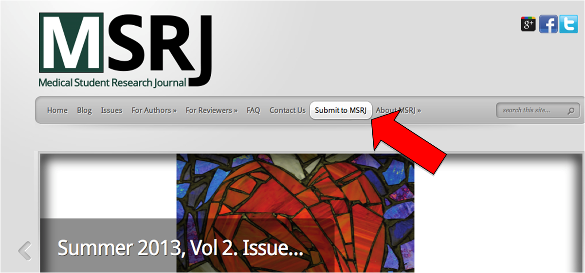 How to Submit   Medical Student Research Journal