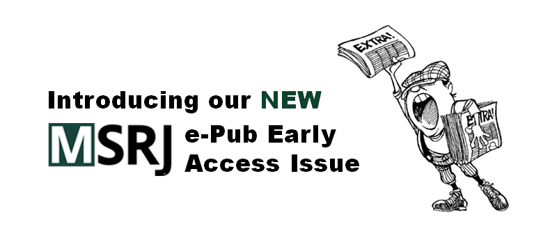 New Feature: MSRJ e-Publications